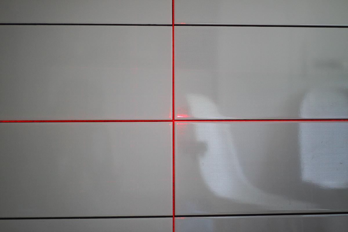 Laser krzyżowy - kontrola fugi