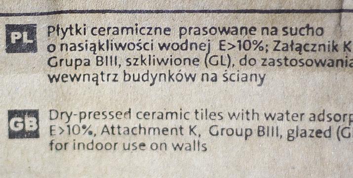 Jak czytać oznaczenia płytek na opakowaniach?