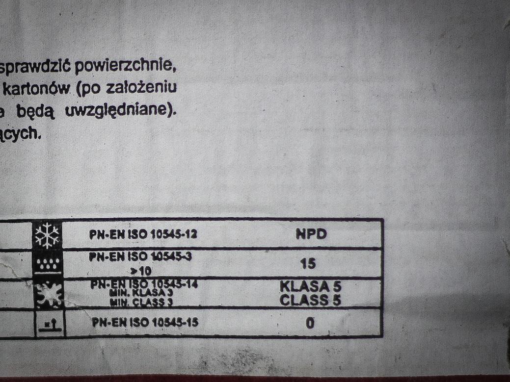 Oznaczenia płytek - odporność na plamienie klasa 5